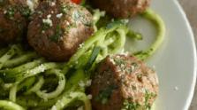 Zucchini Pasta & Meatballs