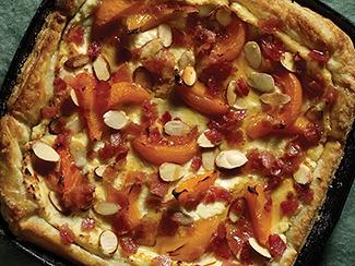 Bacon & Apricot Turkish Breakfast Pizza