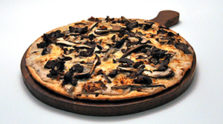 Mushroom and Swiss Steak Pizza