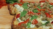 Ricotta Sausage Pizza