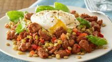 Spinach & Lentil Chorizo Salad
