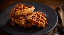 Puffed Up Pork and Waffle