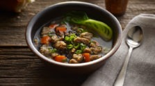 Chicken Sausage Wild Rice Soup