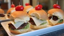 Guacamole and Bacon Sliders