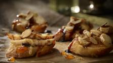 Almond and Apricot Chicken Crostini