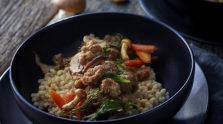 Spicy Sausage & Wild Mushroom Risotto