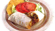 Migas Breakfast Burrito