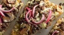 Beef & Mushroom Sausage Cheesy Flatbread