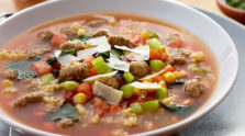 Hearty Chardy Minestrone Soup