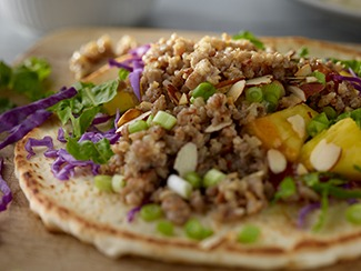 Tropical Pork & Cauliflower Sausage Wrap