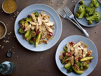 Charred Broccoli & Chicken Salad