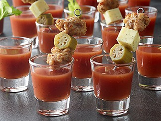 Wasabi Bloody Mary with Italian Sausage