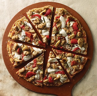 Garlic Roasted Red Pepper Pizza