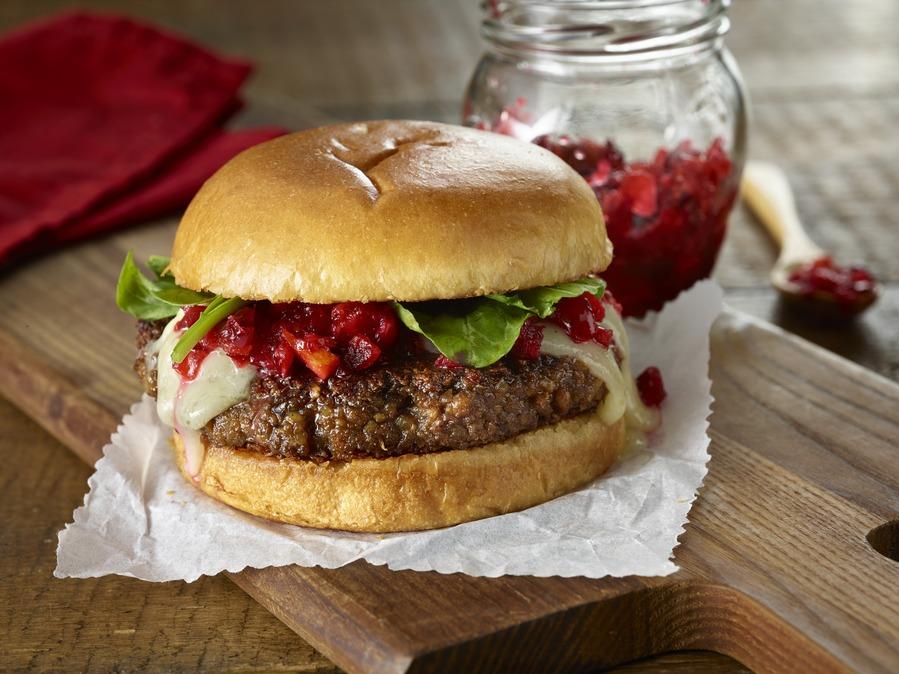 Cranberry Plant-Based Burger