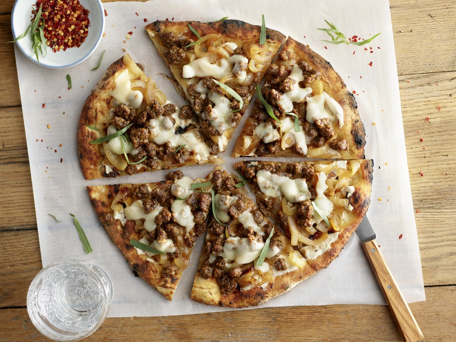 French Onion Plant-Based Pizza