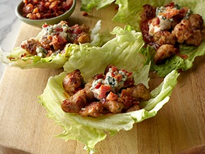 Bacon and Sausage Iceberg Lettuce Wraps