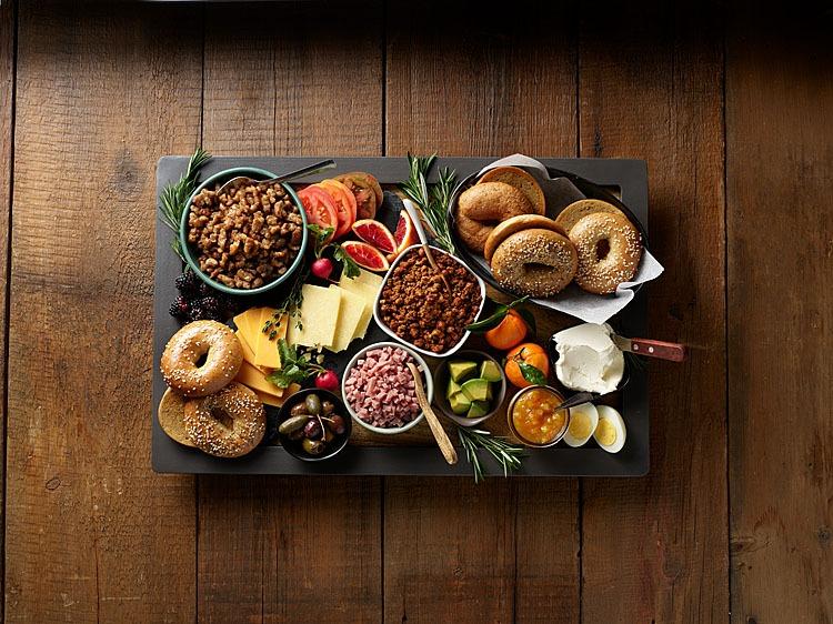 Breakfast Bagel Grazing Table