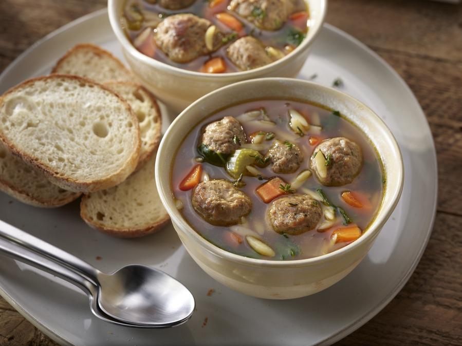 Meatball and Orzo Soup