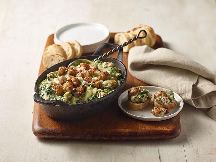 Spinach, Artichoke & Sausage Dip